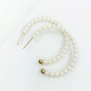 CLOSET REHAB Jewelry - Mini Pearl Hoop Earrings